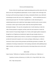 Political Science 334 Development and Poverty Essay