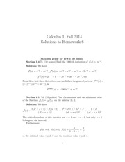 MATH 1101 Fall 2014 Homework 6 Solutions