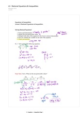4.3 Rational Equations and Inequalities