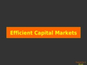 14-6a.- Efficient Markets