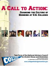 A Call to Action Changing the Culture of Drinking at US Colleges