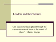 Leaders and their Stories PPT