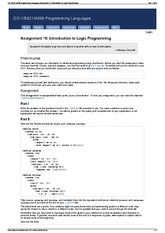 C311-B521-A596 Programming Languages [Assignment 10 Introdu