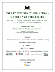 Energy efficiency finacing models