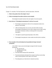 SOC 315 finial study guide - textbook