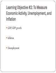 Lecture 7 - To Measure Economic Activity, Unemployment, and Inflation