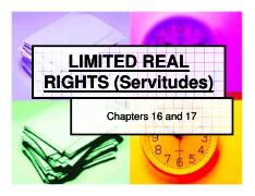 Limited real rights and servitudes [Compatibility Mode].pdf