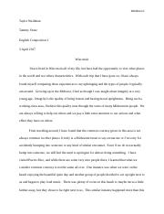 Analytical Essay. English Composition. Taylor Weidman