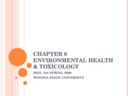 Chapter 8 environmental health & Toxicology