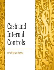 ACC1002 - Lect 10 Cash And Internal Controls