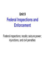 Unit 9. Federal Inspections and Enforcement.pdf