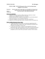 UNIT SIX STUDY GUIDE