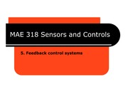 MAE 318 - Chapter 05 - Feedback control systems