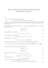 PHYS 251 Fall 2014 Problem Set 10 Solutions