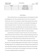 Test Run Report Essay