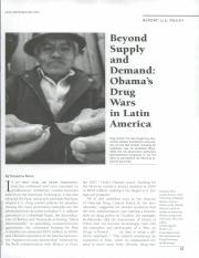 Beyond Supply and Demand- Obama's Drug Wars in Latin America