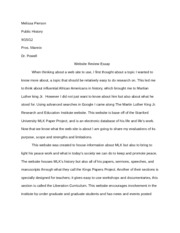 website review essay