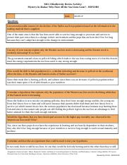 M1 L3 Assignment: Biodiversity Review Activity - Report Sheet - Honors