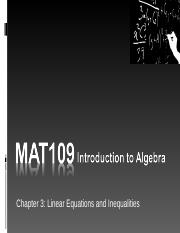 MAT109 Introduction to Algebra Live Chat 6.ppt