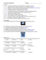 Invert Study Guide Key