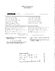 OPMT 5701 Partial Derivatives Homework