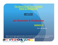 Advertising: Art Direction & Production