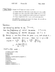 Fall 2009 Exam 3 Solutions