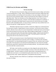 CRR4 Essay for Revision and Editing