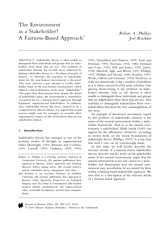 The Environment as a Stakeholder - A Fairness Based Approach