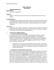 Lesson Plan 2 - Third Grade Language Arts - Assignment