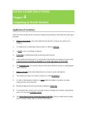 STUDY GUIDE SOLUTIONS Chapter 4