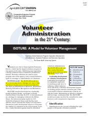 R07- Volunteer administration in the 21st Century