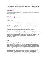 Homework Solutions to D2L Questions - Due Feb 24