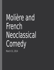 10-08 Moliere and French Neoclassical Comedy