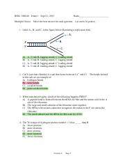 exam 1- A and answers