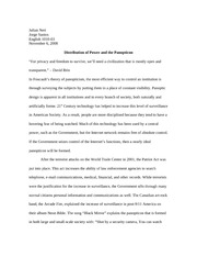 Research Paper - Panopticism Dec. 2008