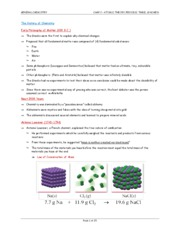 Chapter 2 - Atomic Theory, Periodic Table, & Nomenclature (1)