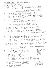Answers to Linear Algebra Class Test 2009 (solutions)