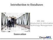 Class 11 - Intro to Databases