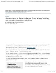WSJ(29Aug2014)Abercrombie to Remove Logos From Most Clothing-1.pdf