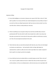 Study Example Worksheet with Solutions
