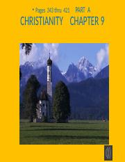 CHRISTIANITY  CHAP 9  PART A