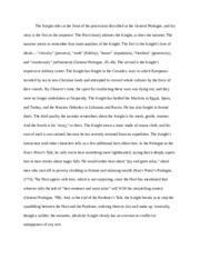 the knight and squire essay