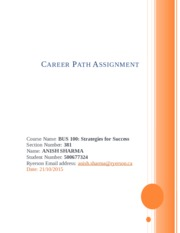 Career Path Assignment by Anish Sharma