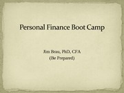 15 Winter 2012 Personal Finance Boot Camp