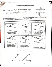 constructing parallel lines notes