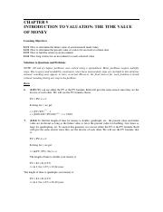 Home Work Solution Chapter 5