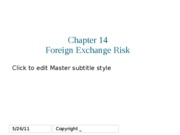 Week07 - Ch14 - Foreign exchange risk