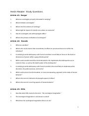 SOC 1 Henslin Study Guide