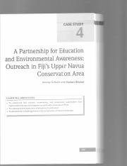 Case Study -- A Parternership for Education & Environmental Awareness; Outreach in Fiji's Upper Navu